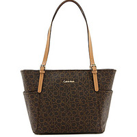 Calvin Klein Monogram Logo East/West Tote