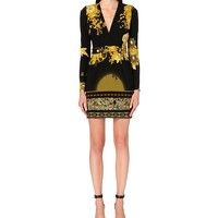 ROBERTO CAVALLI - Floral-print stretch-crepe dress | Selfridges.com