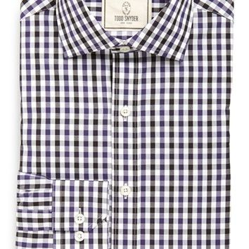 Men's Todd Snyder Trim Fit Gingham Dress Shirt,