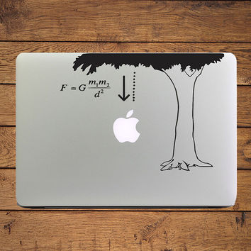 "Newton Law of Gravity Science Laptop Decal Sticker for Apple MacBook 11"" 12 13 15 Air Pro Retina Mac Skin HP Mi Notebook Sticker"