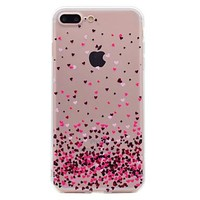 For iPhone 7 Plus 7 Phone Case Heart Pattern Soft TPU Material Phone Case 6S Plus 6 Plus 6S 6 SE 5S 5