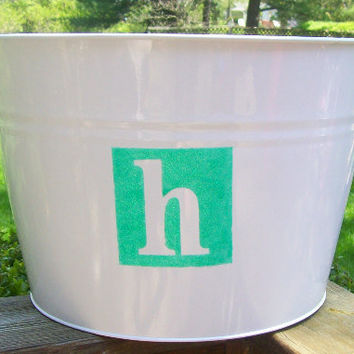 Drink Tub Personalized with Glitter Initial, Wine Bucket, Drink Holder, beer holder, Beverage Tub, Beer Tub