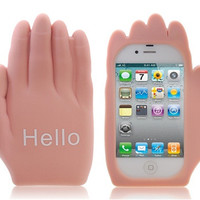 Hello Palm Shaped Silicone Case for iphone 4/ 4S (Brown)