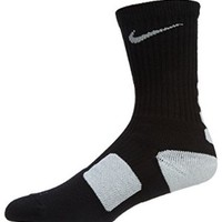Nike Dri-FIT Elite Crew Basketball Socks Black/White Size Large