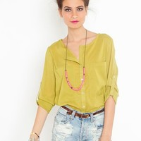 Bright On Blouse - Lime in Clothes at Nasty Gal