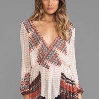 Free People Mystic Top in Blush