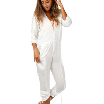 Cali Dreaming Flight Suit in White