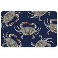 Bungalow Flooring 23-Inch x 36-Inch Blue Crabs Accent Kitchen Mat