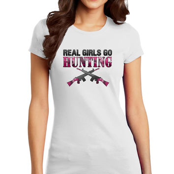 Real Girls Go Hunting Juniors Petite T-Shirt