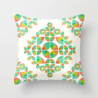 Fantasy Garden Pattern Throw Pillow by VessDSign