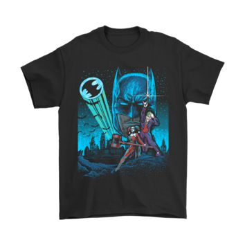 PEAP3CR Batman Joker Harley Quinn Star Wars Poster Mashup Shirts