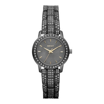 DKNY Women's Two-tone Stainless Steel Black Dial Quartz Watch | Overstock.com