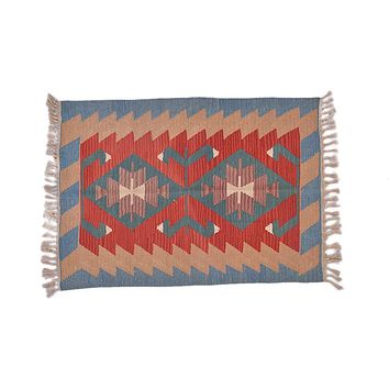 "Turkish Kilim Turkish 2' 8"" X 3' 9"" Handmade Rug"