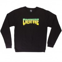 Creature Logo Crew Neck Sweatshirt - Black