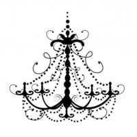 Swirly And Decorative Chandelier Vinyl Decal | Luulla