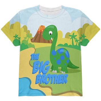 The Big Brother Dinosaur All Over Youth T Shirt