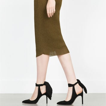 SLINGBACK HIGH HEEL SHOES WITH BOW - High-heels-SHOES-WOMAN | ZARA United Kingdom