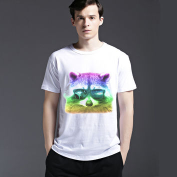 Strong Character Short Sleeve Fashion Creative Cute Tee Lovely Men's Fashion Cotton Casual Summer T-shirts = 6451496451