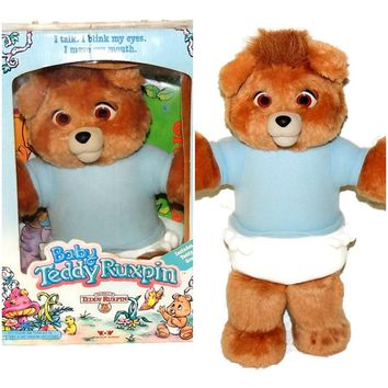 Baby Teddy Ruxpin 1987 Origin w Box Working Talking INTERACTIVE Teddy Bear