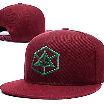 HAIHONG Enlightenment Faction Converted Ingress Logo Adjustable Snapback Caps Embroidery Hats - Red