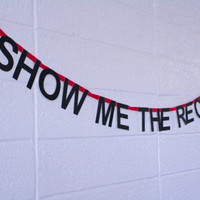show me the receipts - word banner, *mini* - super glittery!