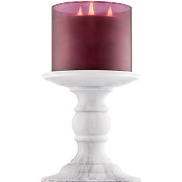 FAUX MARBLE PEDESTAL3-Wick Candle Holder