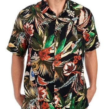 Exclusively Ours - Tropical Print Button Front Shirt