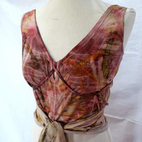 Double Crossed Eco Printed Top