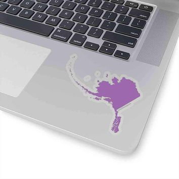 Alaska State Shape Sticker PURPLE