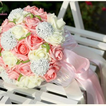 Rose Wedding Bouquet Romantic Sweet Marriage Holding Flower Celebration Props Accessories Of Bridesmaids Bouquets