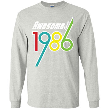 Awesome Since 1986 - 30th Birthday Gift Anniversary t-shirt-01  LS Ultra Cotton Tshirt