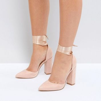Truffle Collection Wide Fit Block Heel Shoe at asos.com