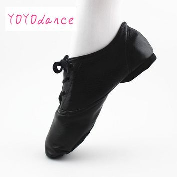 28-45 Big Sale Kids Jazz Shoes Women Dance Shoes Design Soft Lace Up Lady Practice Teacher Ballet Jazz Ballet Shoes