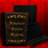 Harry Potter inspired Advanced Potion Making Leather Case For iPad 2, iPad 3 and iPad 4