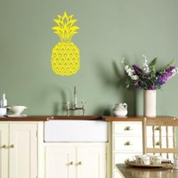 Wall Vinyl Sticker Decal Art Design Pineapple Fruit Face Kitchen Room Nice Picture Decor Hall Wall Chu177