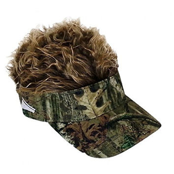 Flair Hair Mossy Oak Brown Hat Cap Size Standard