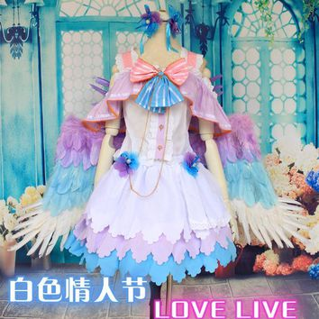 LoveLive! White Day Koizumi Hanayo Cosplay Costume Love Live Uniform Suit  Japanese Anime Clothes Dress & Headwear