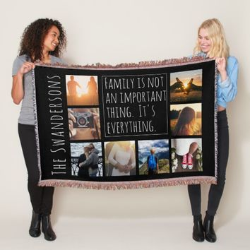 Personalized Eight Frame Quote Throw