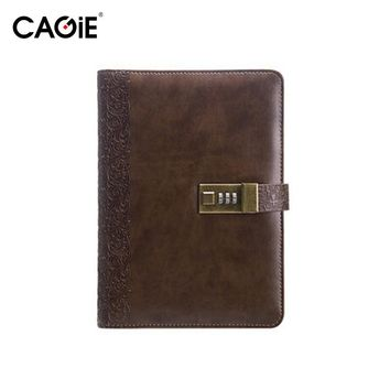 CAGIE 2017 Planners Vintage Notebook Diary With Lock a5 Planner Binder Leather Notebooks And Journals Travelers Diary
