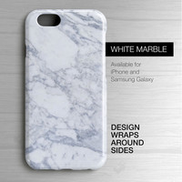White Marble iPhone 6 Case - White Marble Sublimated Samsung Galaxy Case - White Marble iPhone 6 Case - White Marble iPhone 5 case