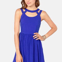 Lattice Quo Royal Blue Dress