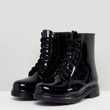 Glamorous Lace Up Wellington Boots at asos.com