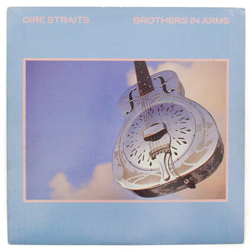 Vintage 80s Dire Straits Brother in Arms Rock Album Record Vinyl LP