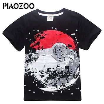 Children kid Cartoon Pokemon t shirt Summer Top Tee pokemon gotcha Clothing Kid T-shirt for Baby boy Clothes tshirts 4-12T P20