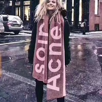 """Acne Studio"" Fashion Retro Cashmere Cape Scarf Shawl Scarves Accessories"