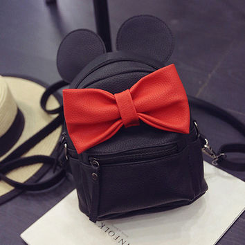 Mickey Minnie mini bow Backpack bag