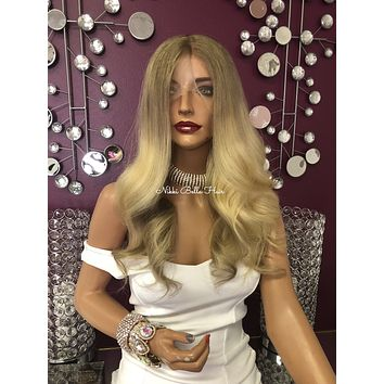 Blonde Sombre Custom Full Lace Wig 18"