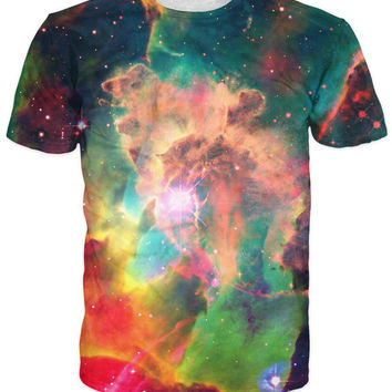Outer Space All-Over Print Sublimated Multi-Color T-Shirt