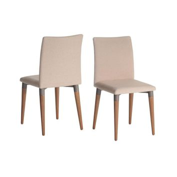 Charles 2-Piece Dining Chair, Dark Beige
