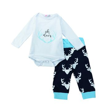 3pcs baby clothes set  Toddler Baby Boy Girl T-shirt Romper+Trousers Cap Outfits Clothing Set drop shipping baby clothing